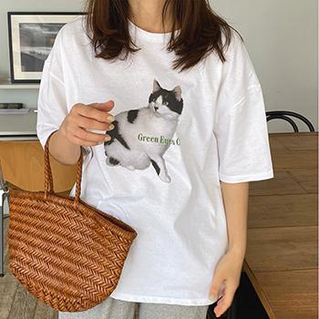 [5%]그린캣 - 티셔츠/MD추천